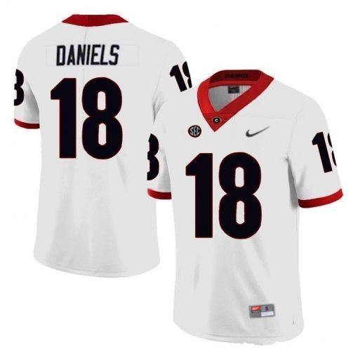 Georgia Bulldogs 18 Jt Daniels NCAA College Football Jersey White