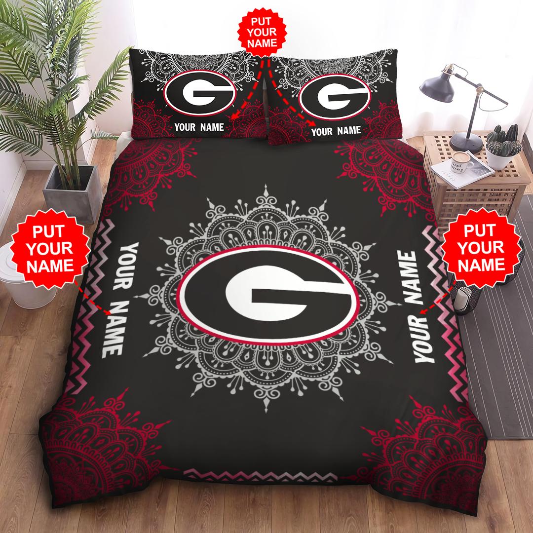 Customized GEORGIA BULLDOGS logo Premium Bedding Set