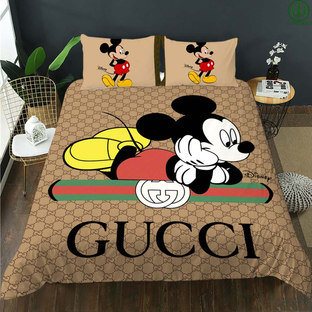Gucci Mickey bedding set