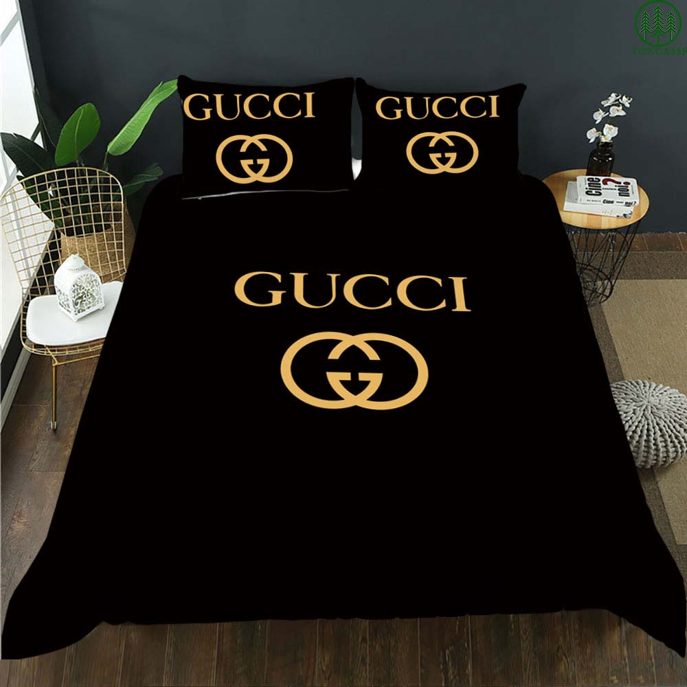 Gucci black classic bedding set