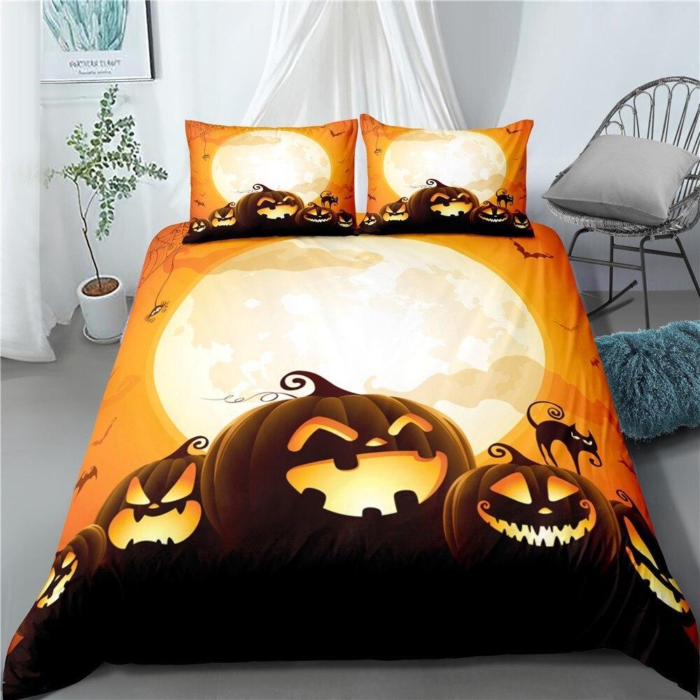 Halloween night golden giant Moon Bedding Set