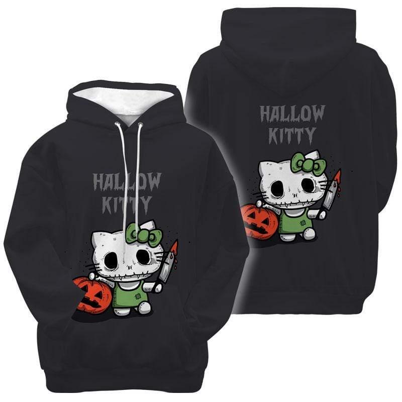 Murderous Cat Hallow Kitty Halloween Hoodie 3D