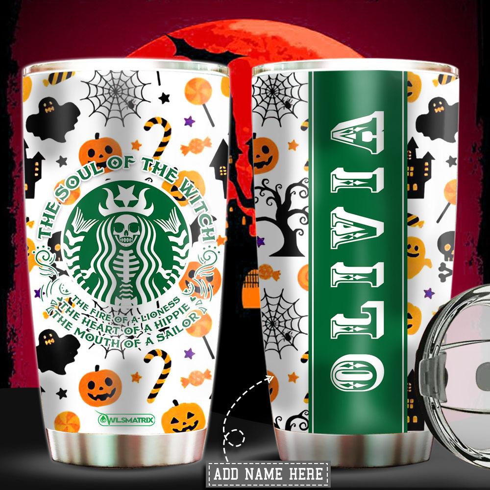 Personalized Halloween the soul of the witch Tumbler Cup