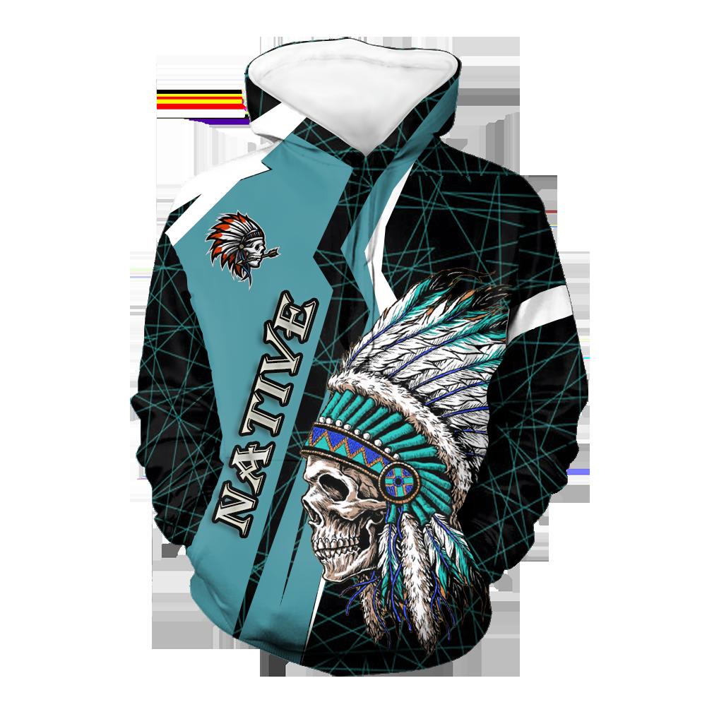 Skull Headdress Native 3D Hoodie