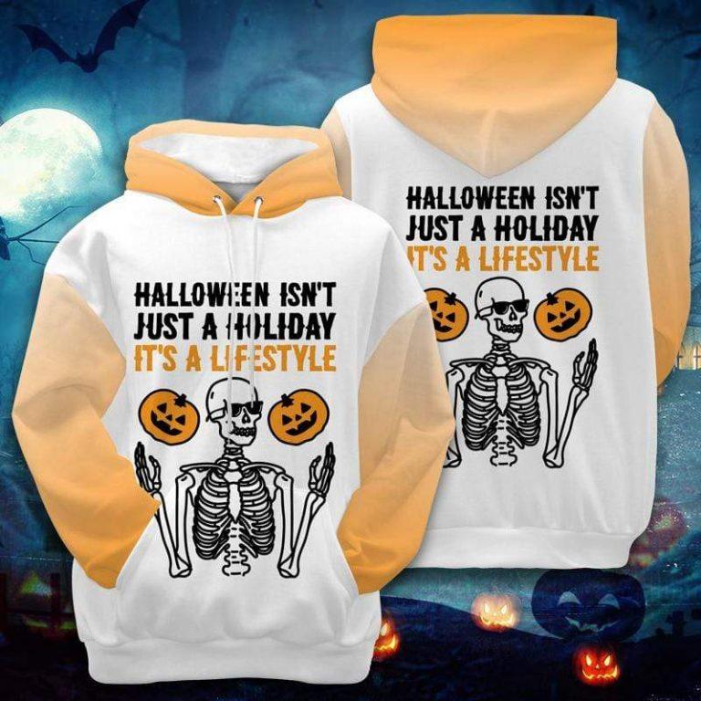 Skeleton Halloween Is A Lifestyle Hoodie 3D