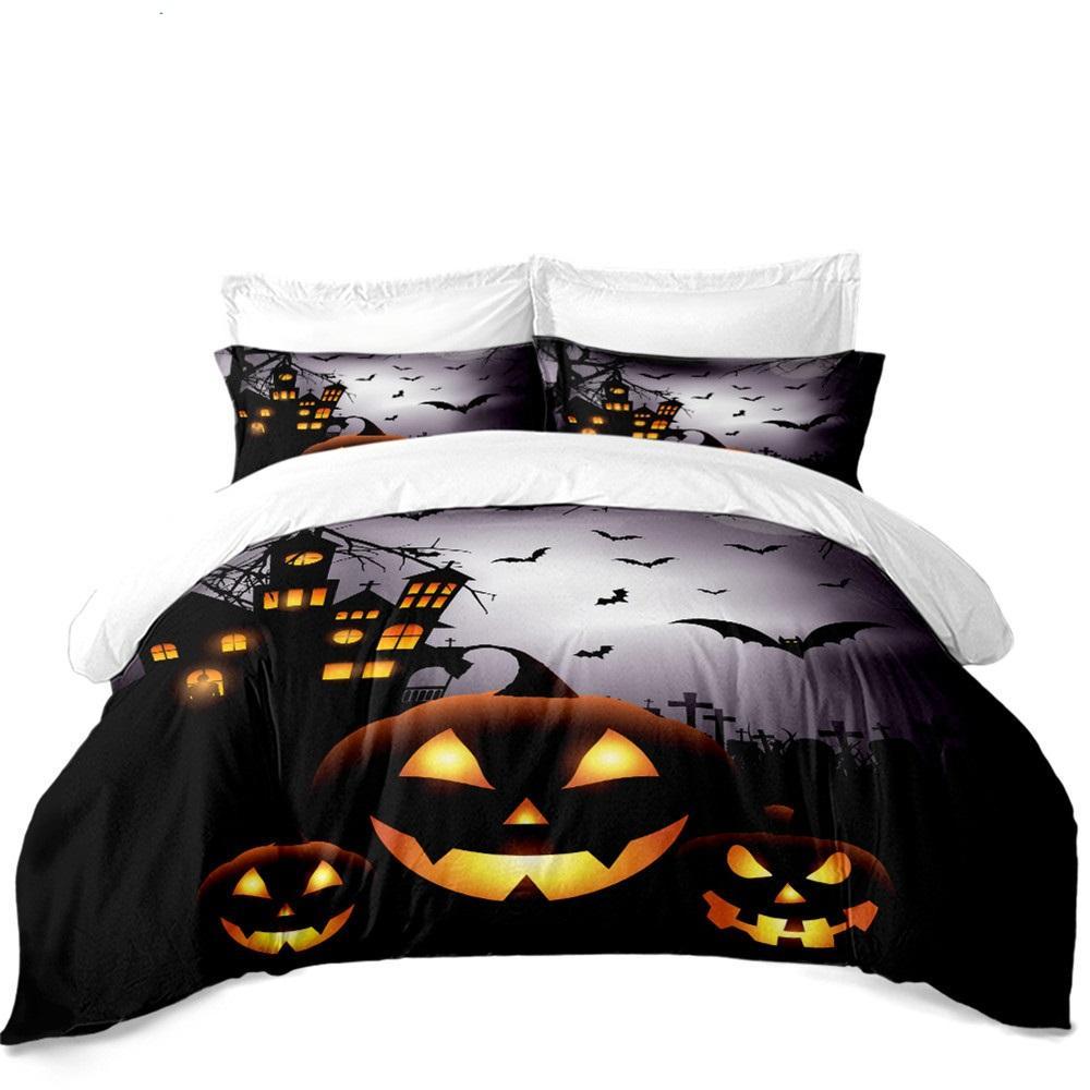 Halloween Night bats Duvet Bedding Set