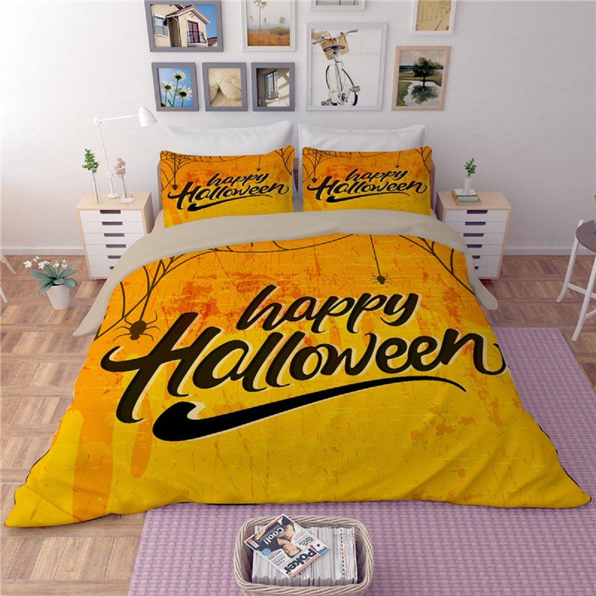 Happy Halloween classic orange Bedding Set
