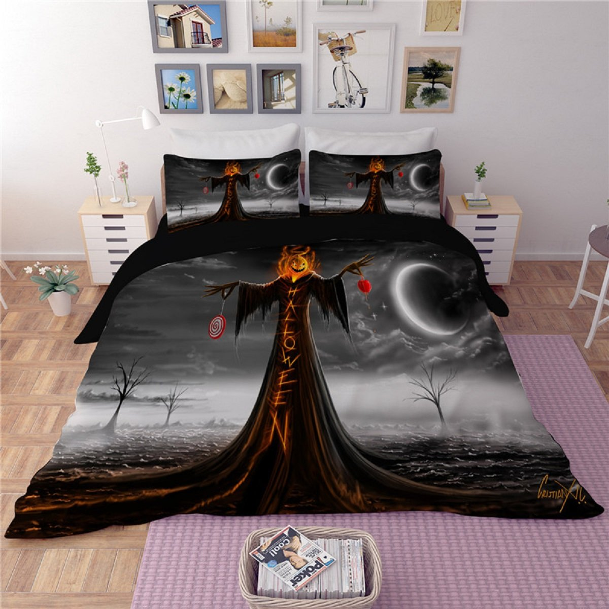 Halloween Horror Death at hell Duvet Bedding Set