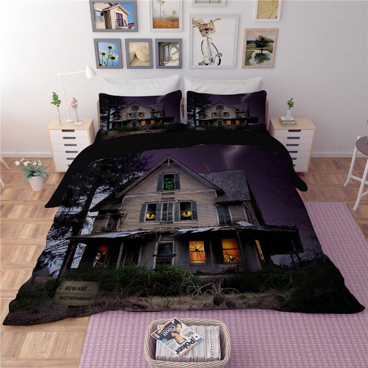 Haunted House Halloween Bedding Set