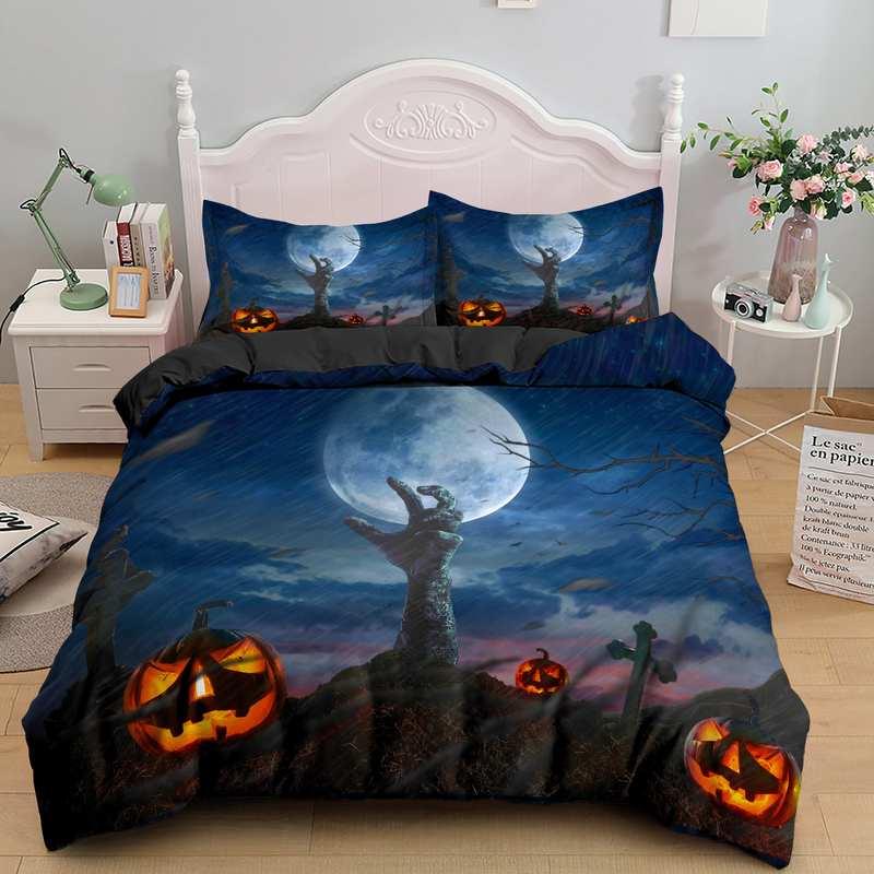 Halloween cemetery moon night Bedding set
