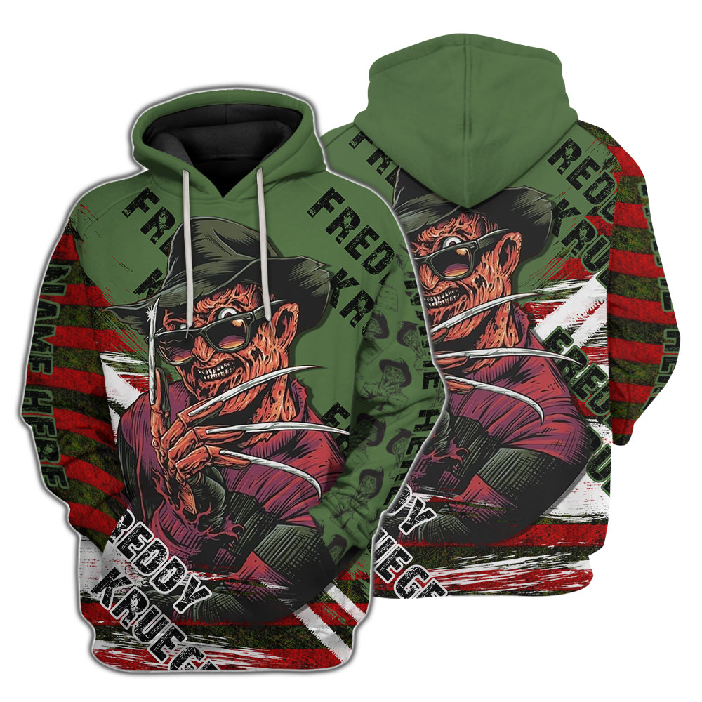Ugly Freddy Krueger A Nightmare on Elm Street Custom Name 3D Shirt
