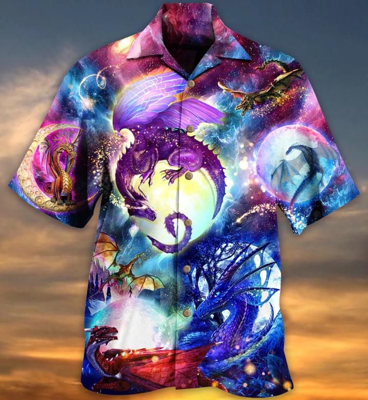 Dragon Neon in The universe Hawaiian Shirt