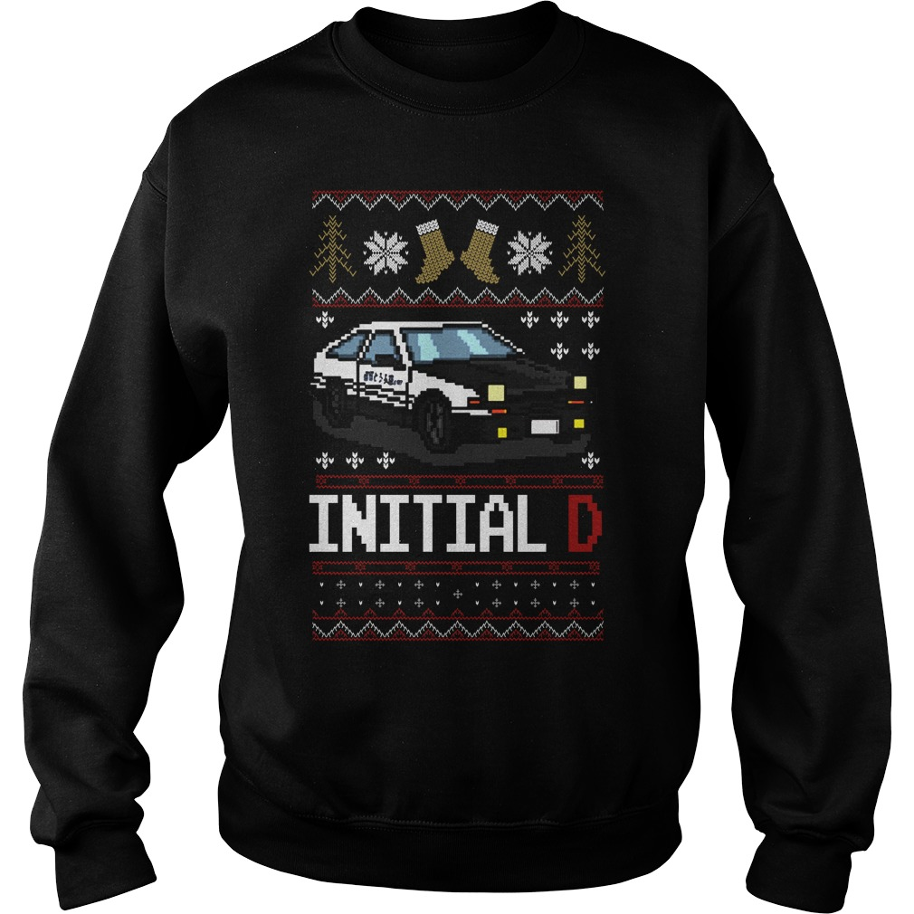 Initial D Ugly Christmas sweater