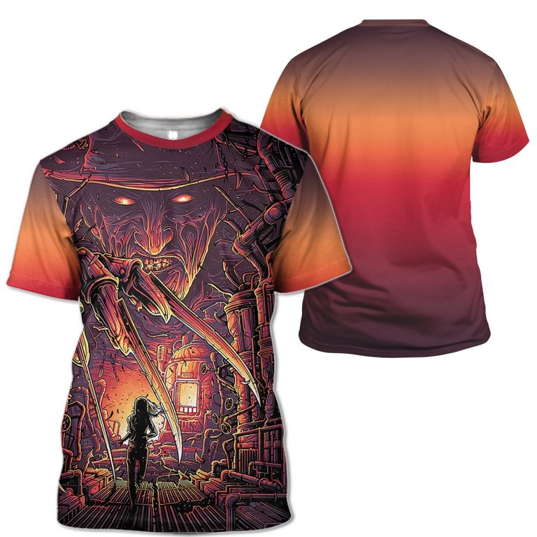 A Nightmare On Elm Street Freddy Krueger 3D Shirt