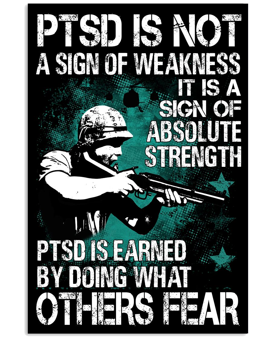 PTSD Is Not A Sign Of Weakness Vertical Poster