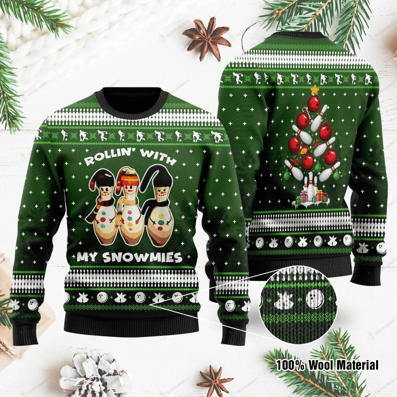 Rolling with my snowmies Christmas Sweater