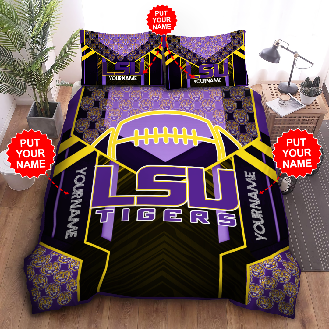 Personalized LSU TIGERS Bedding Set