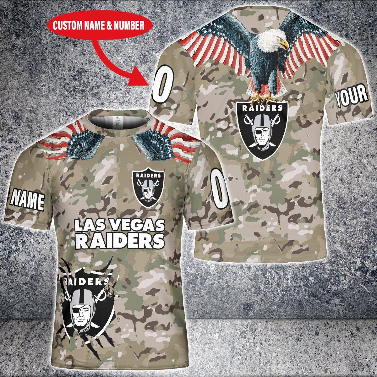 Personalized NFL Las Vegas Raiders Camoflauge 3D shirt