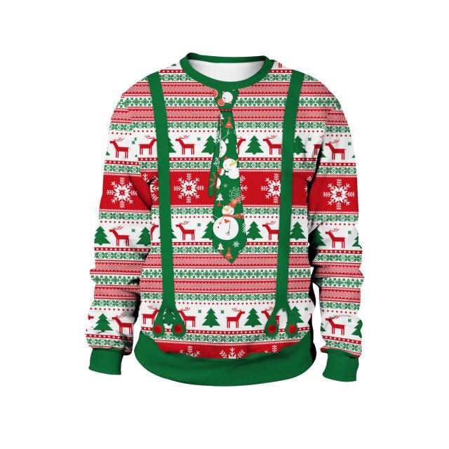 Tie Cravat Christmas Sweater
