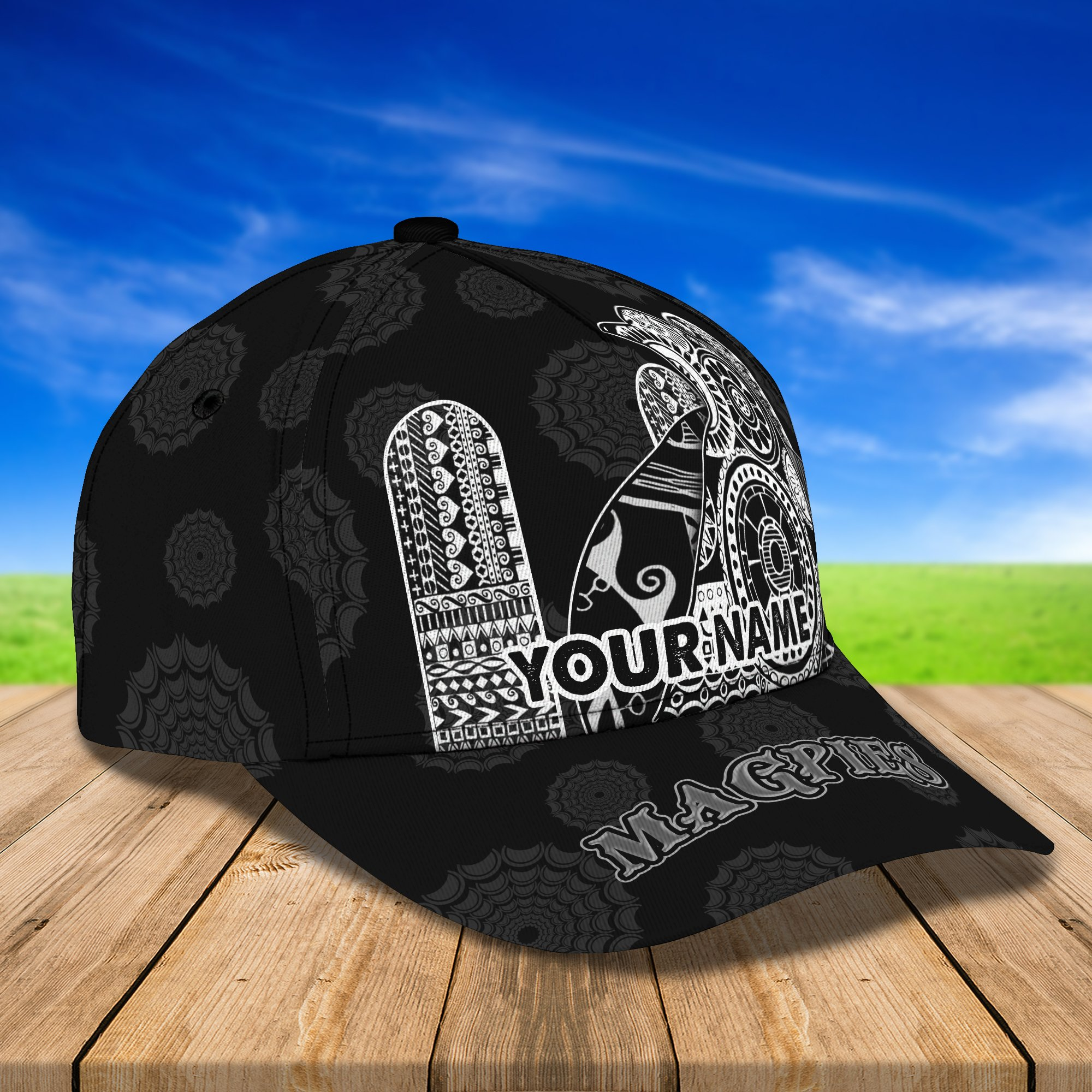 AFL Collingwood Magpies Personalized Name classic Cap