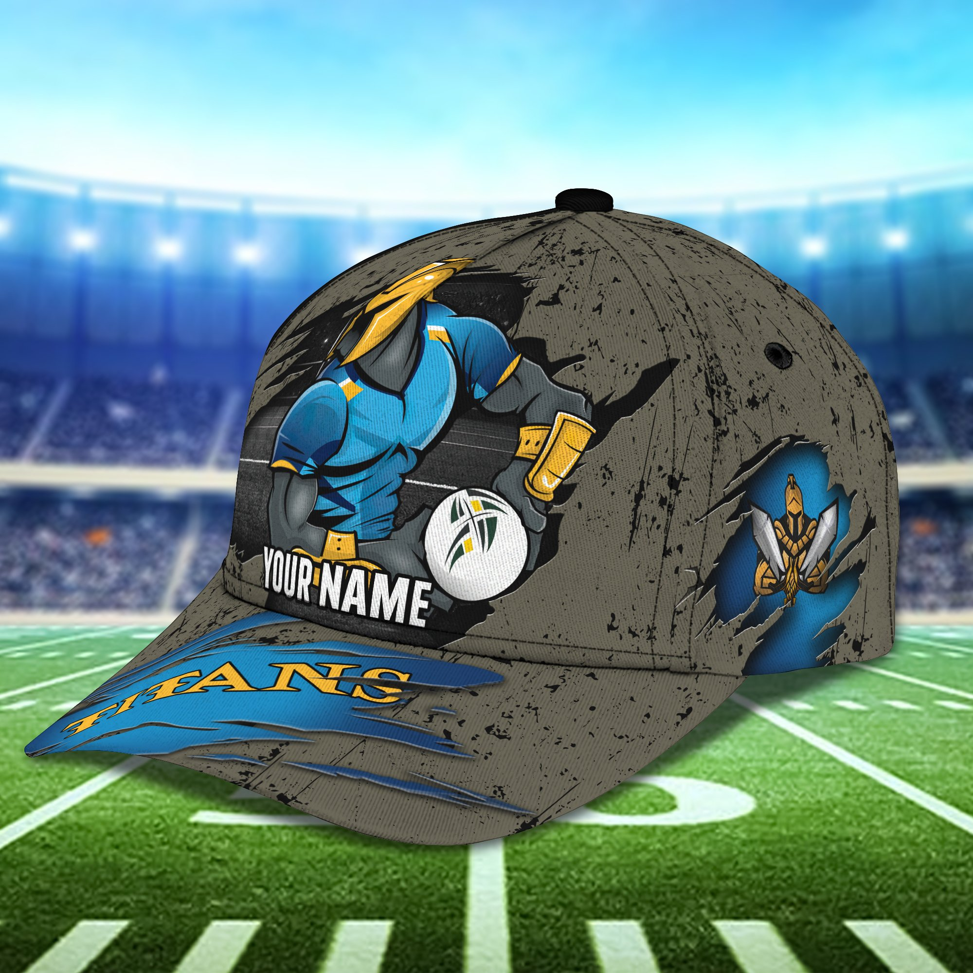 Custom Name AFL Gold Coast Titans AOP 3D Cap