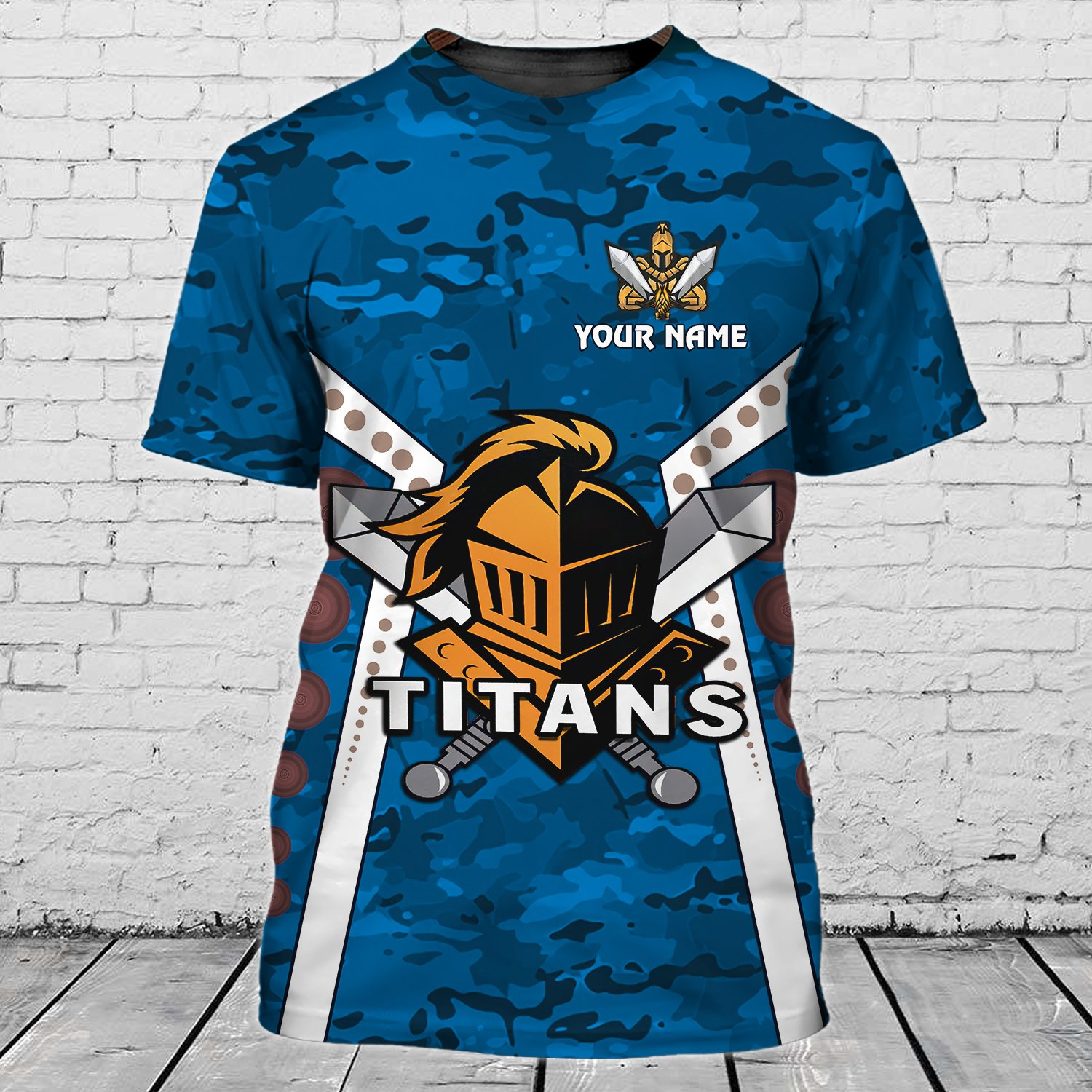 Personalized Name Gold Coast Titans Limited 3D Tshirt for fans
