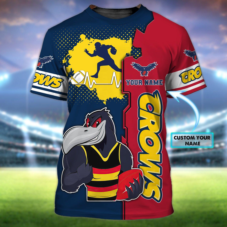 Adelaide Crows Football Club Personalized Name 3D Tshirt