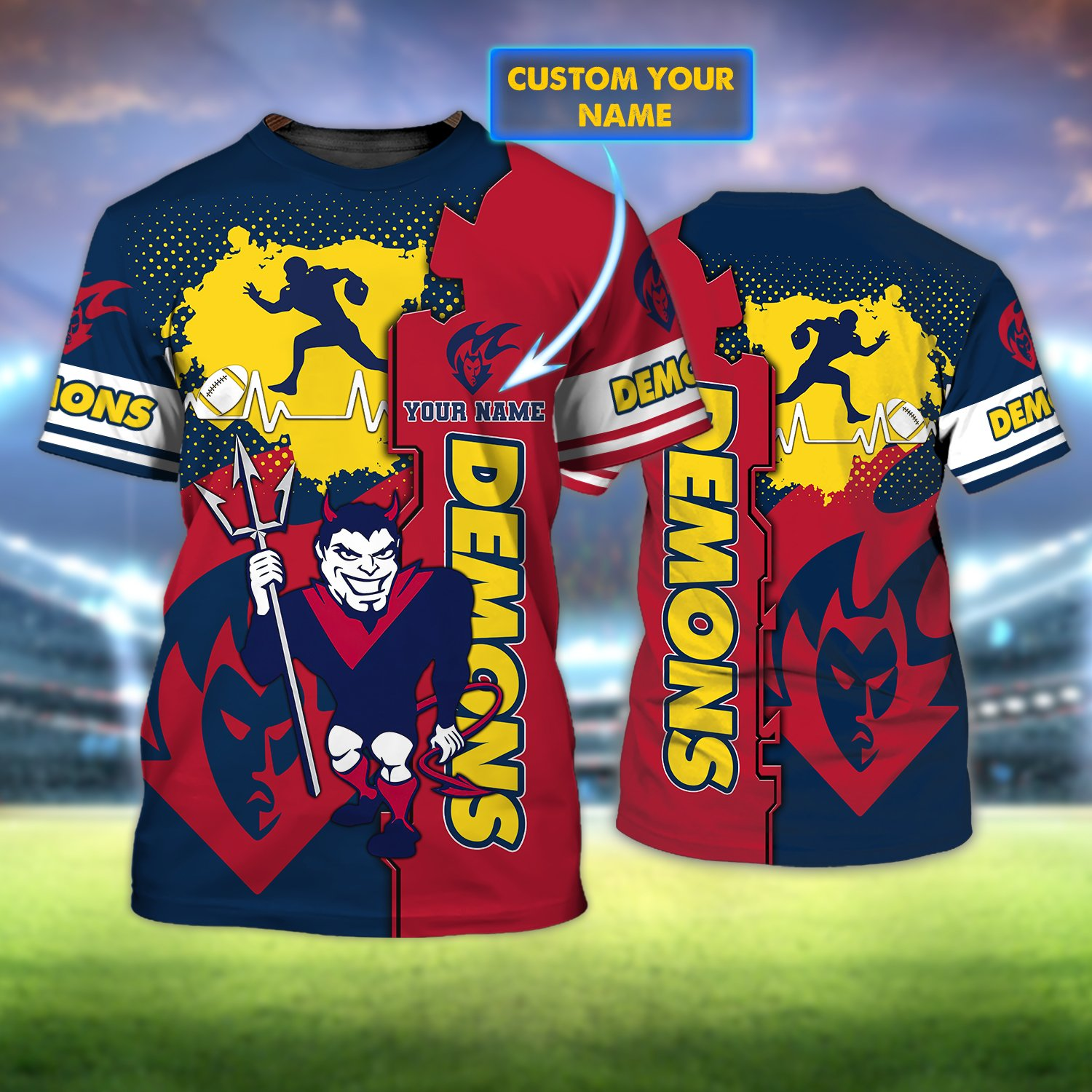 Personalized Name Melbourne Demons 3D T-shirt