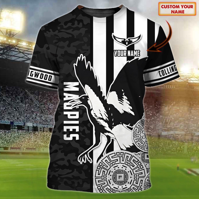 Collingwood Football Club Magpies Custom 3D Tshirt