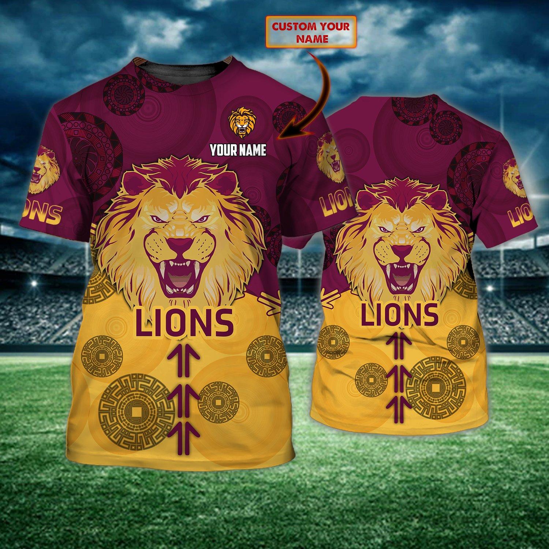 AFL Brisbane Lions Personalized AOP T-shirt