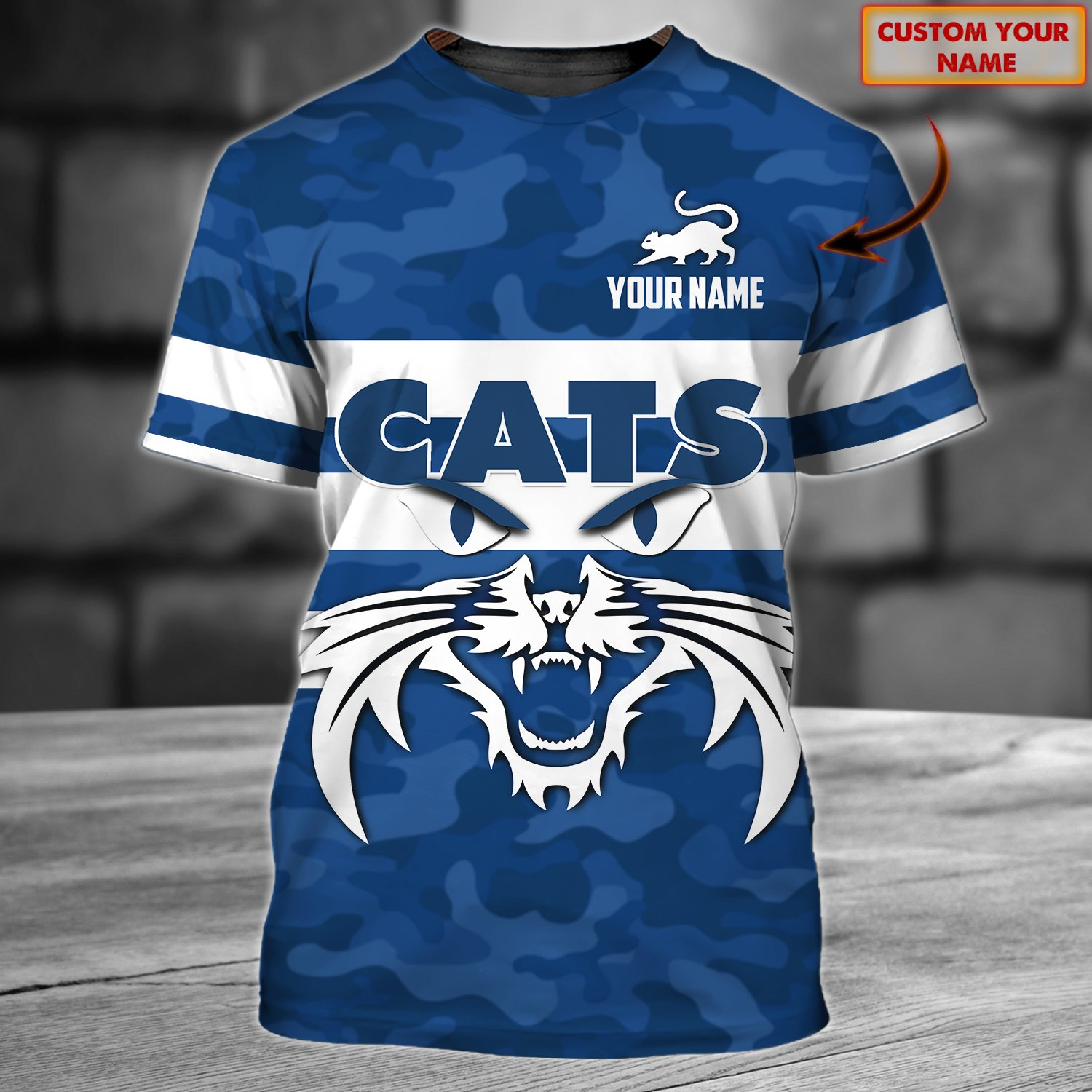 AFL Geelong Cats Personalized Name AOP 3D T-shirt