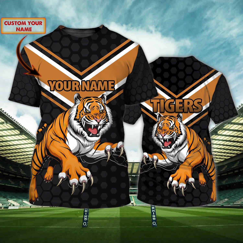 Richmond Tigers mallet Orange Custom T shirt 3D
