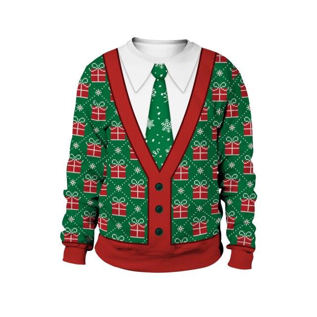 Uniform Pattern Christmas Sweater