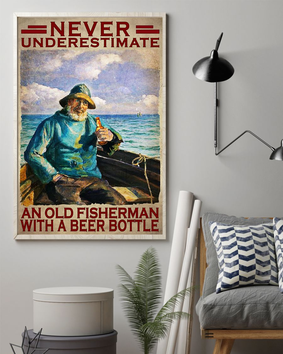 Never Underestimate an old fisherman with a beer bottle