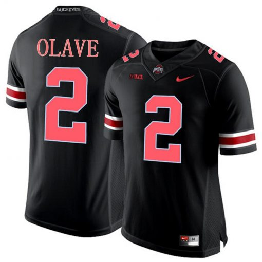 Ohio State Buckeyes 2 Chris Olave NCAA College Football Jersey Black