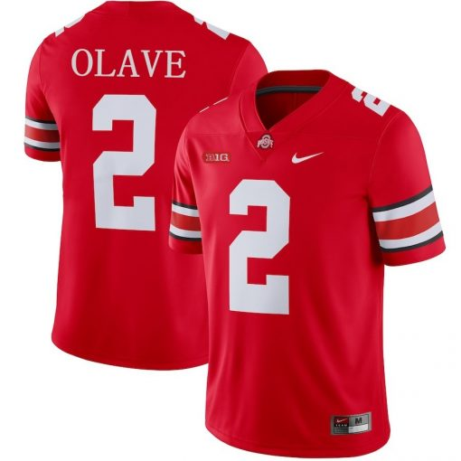 Ohio State Buckeyes 2 Chris Olave NCAA College Football Jersey Red