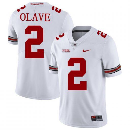 Ohio State Buckeyes 2 Chris Olave NCAA College Football Jersey White
