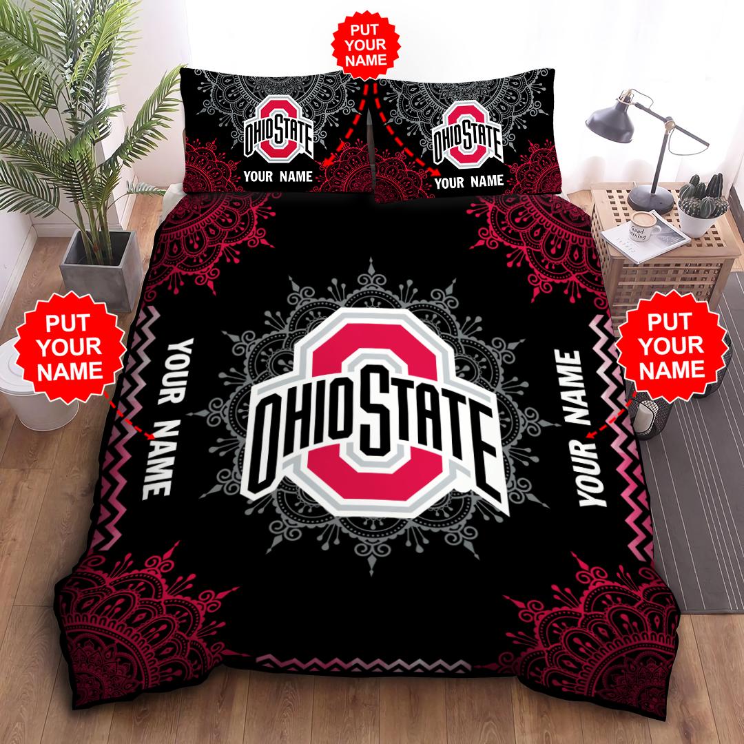 Custom Name NCAA OHIO STATE BUCKEYES Bedding Set