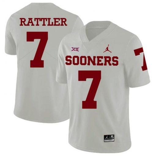 Oklahoma Sooners 7 Spencer Rattler College Football Jersey White