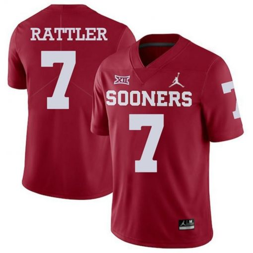 Oklahoma Sooners 7 Spencer Rattler NCAA College Football Jersey Red