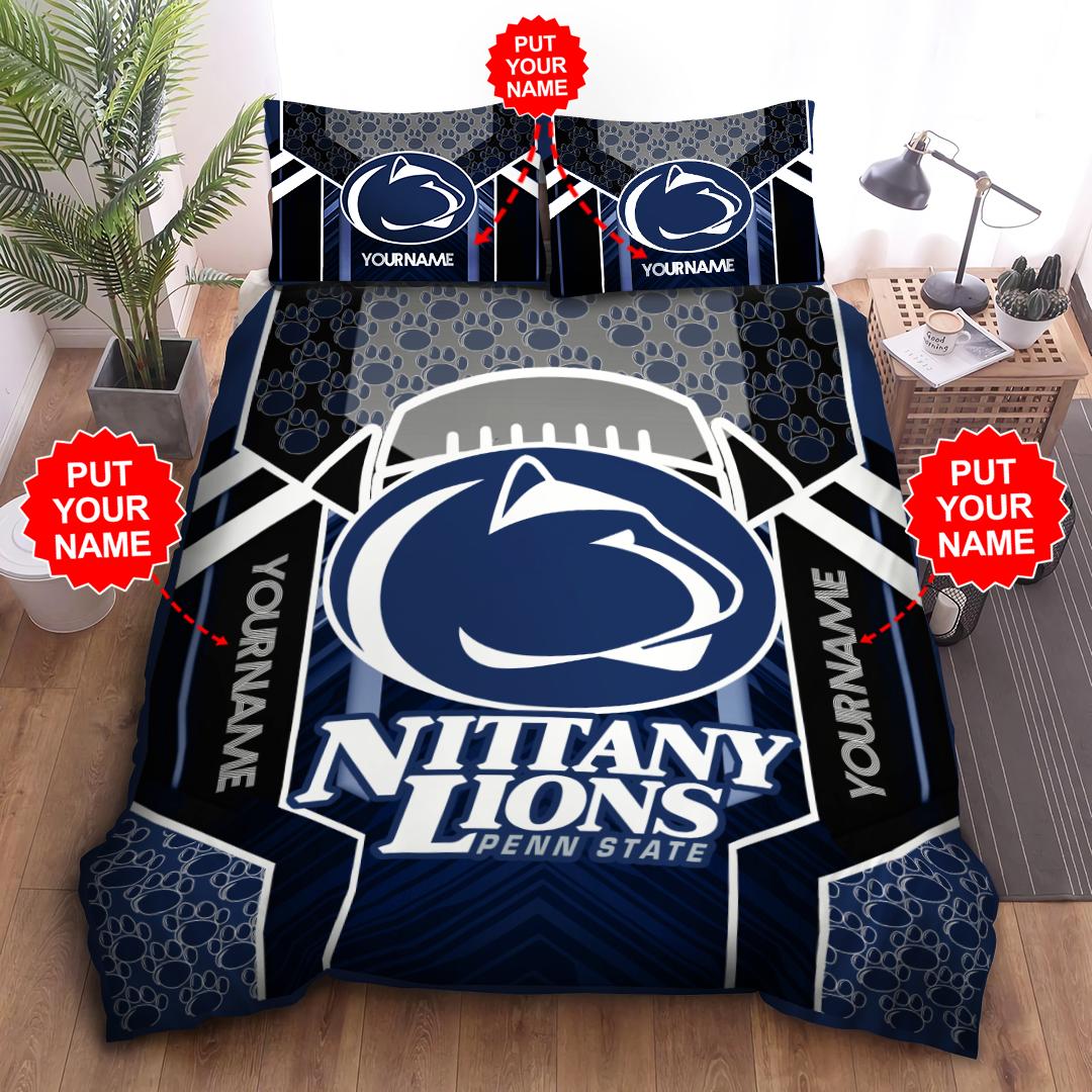 Customized Bedding Set PENN STATE NITTANY LIONS big logo