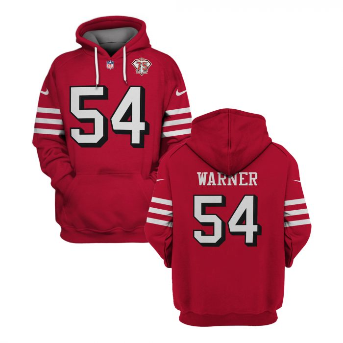 Personalized NFL SAN FRANCISCO 49ERS red hoodie and T-shirt