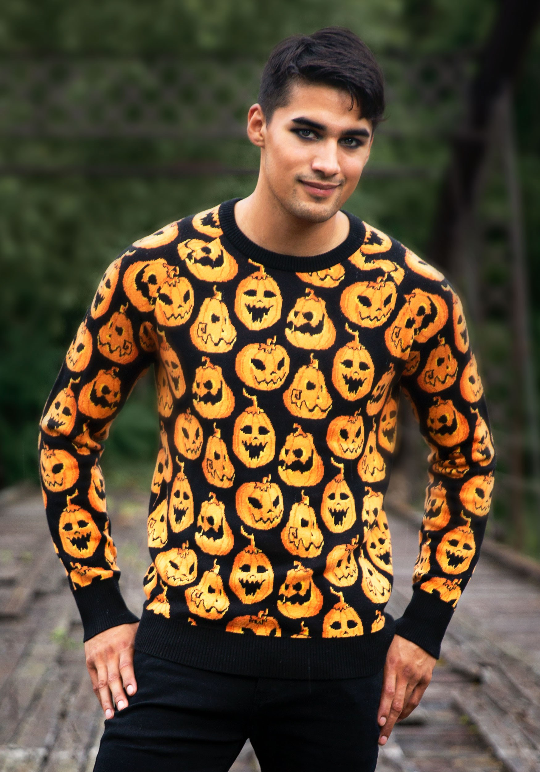 Pumpkin Frenzy Halloween Sweater