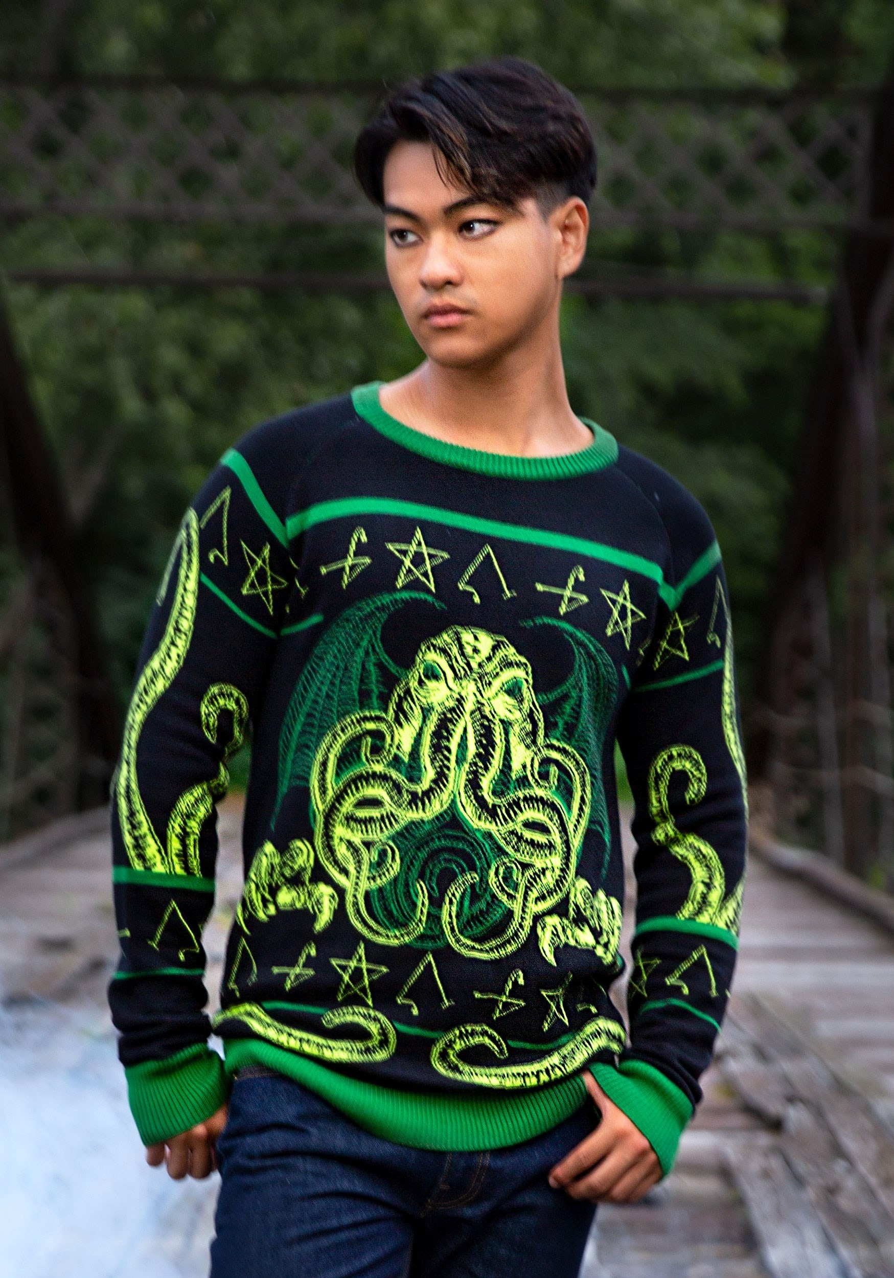 Rage of Cthulhu Halloween Sweater