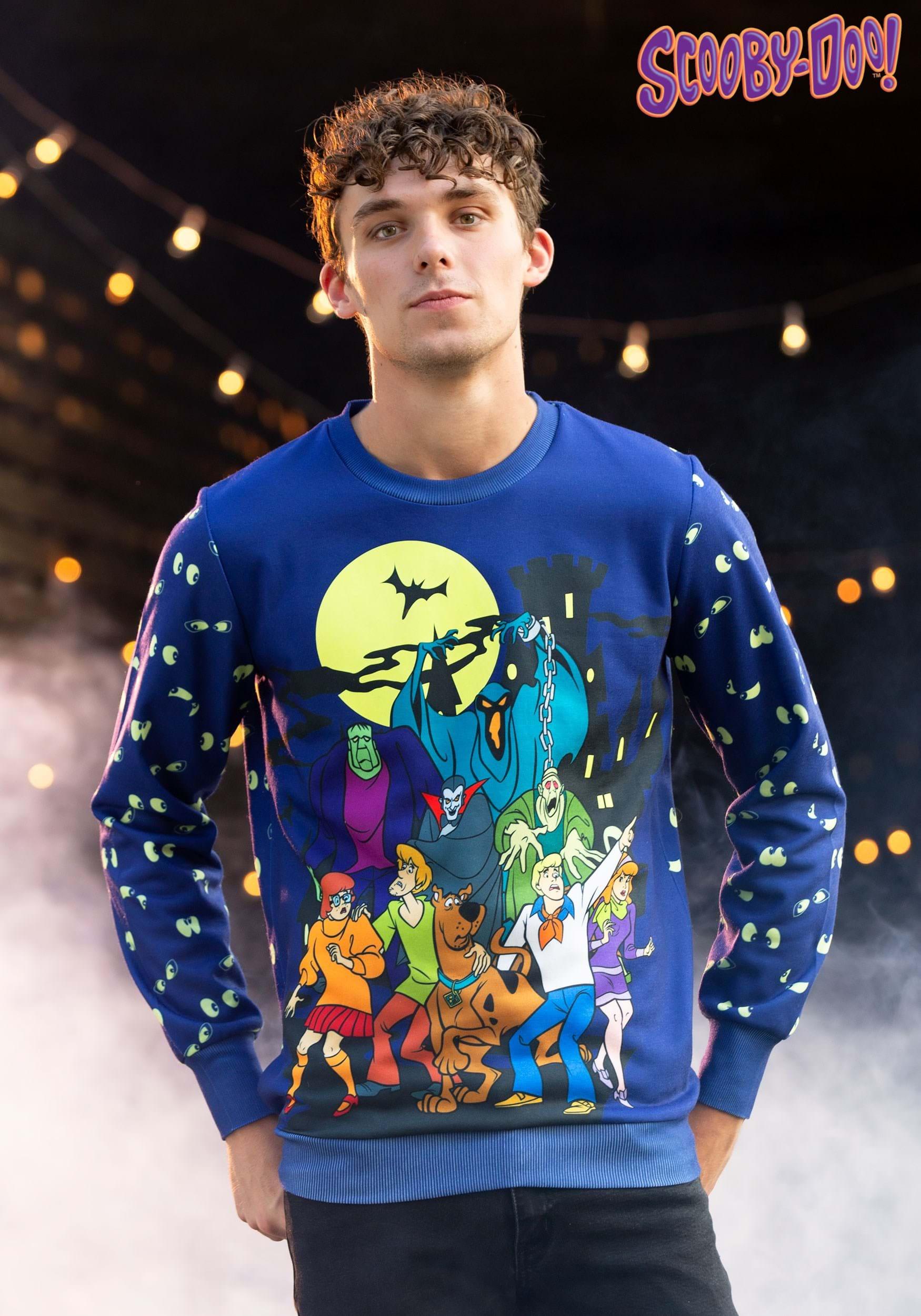 Scooby Doo Glow in the Dark Halloween Sweatshirt