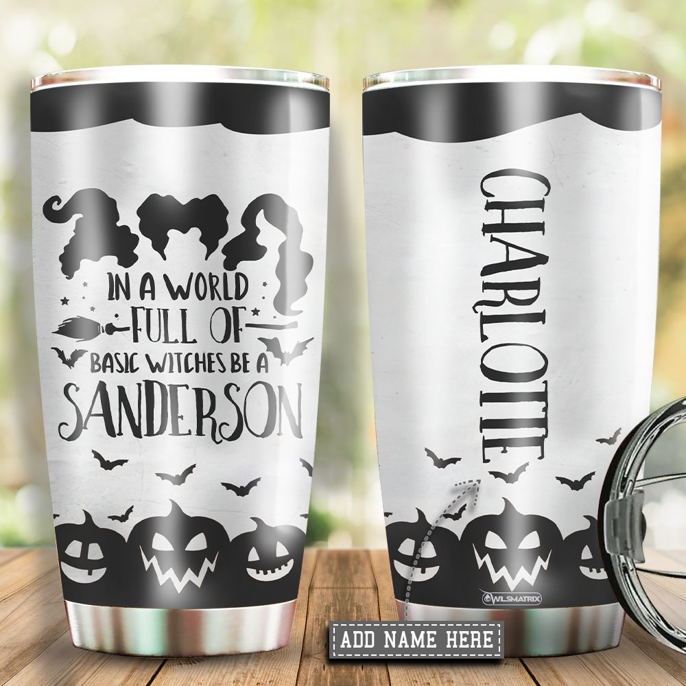 Personalized Halloween basic witches Tumbler Cup