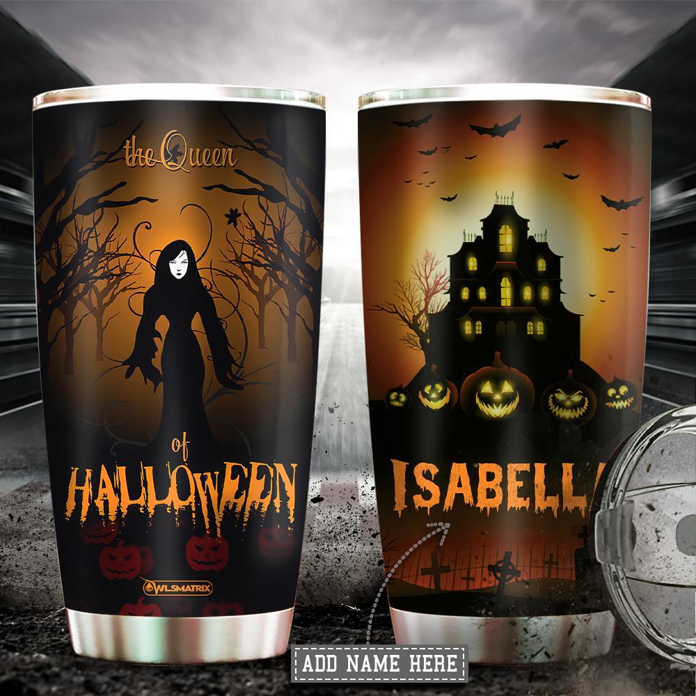 Personalized Halloween the queen Tumbler Cup
