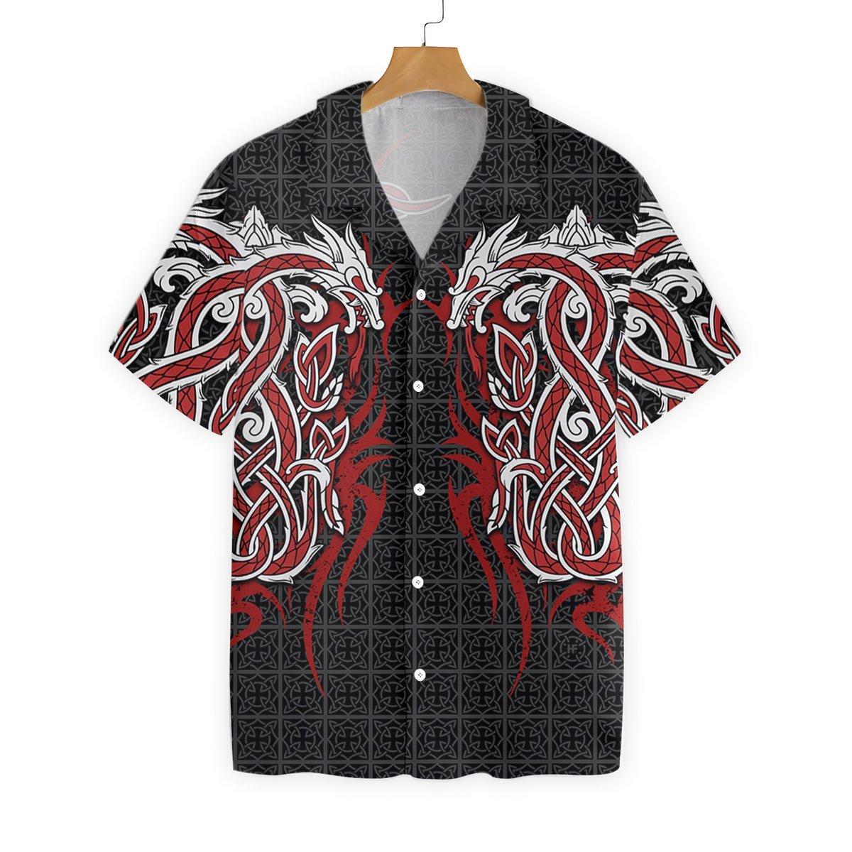 Red Dragon Tattoo Art Hawaiian Shirt