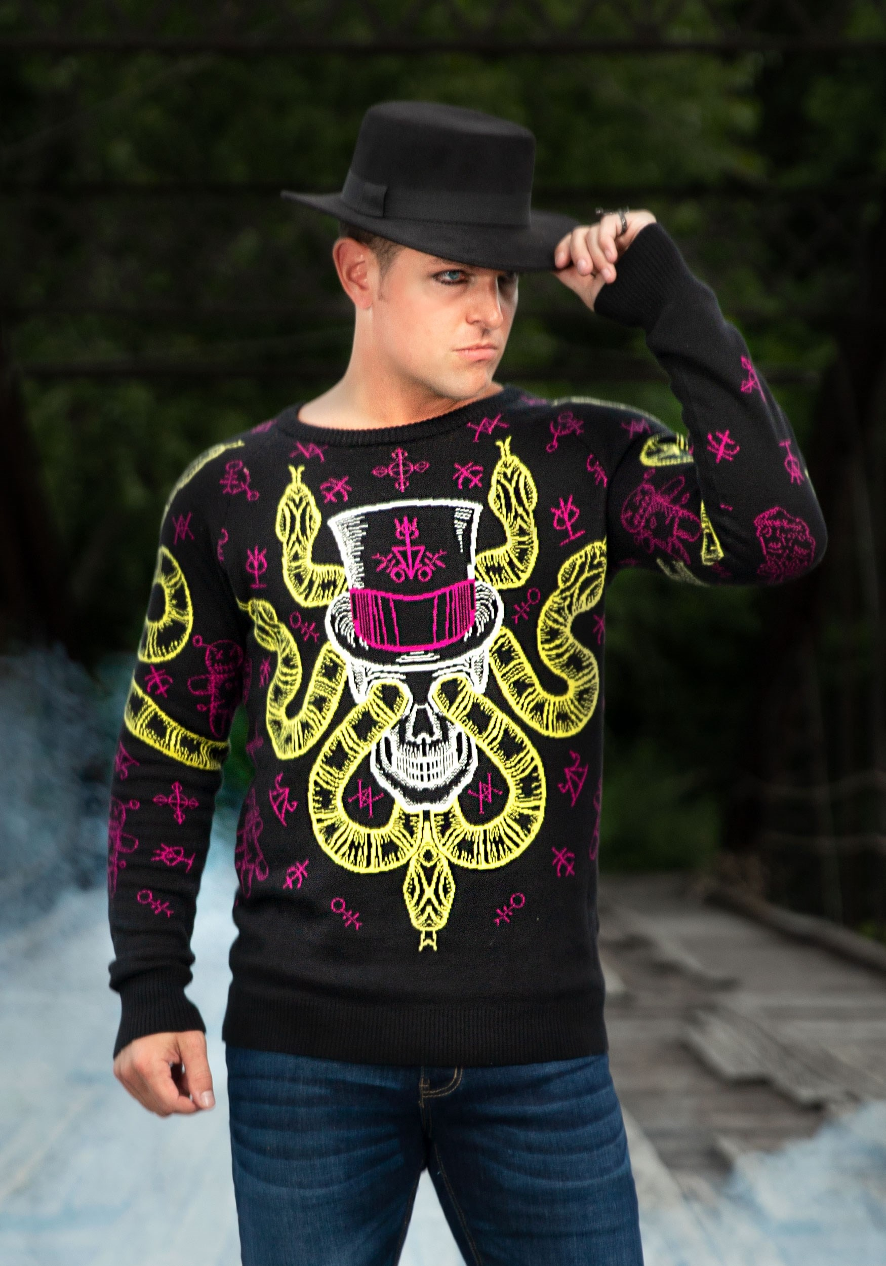 Voodoo Skull Halloween Sweater