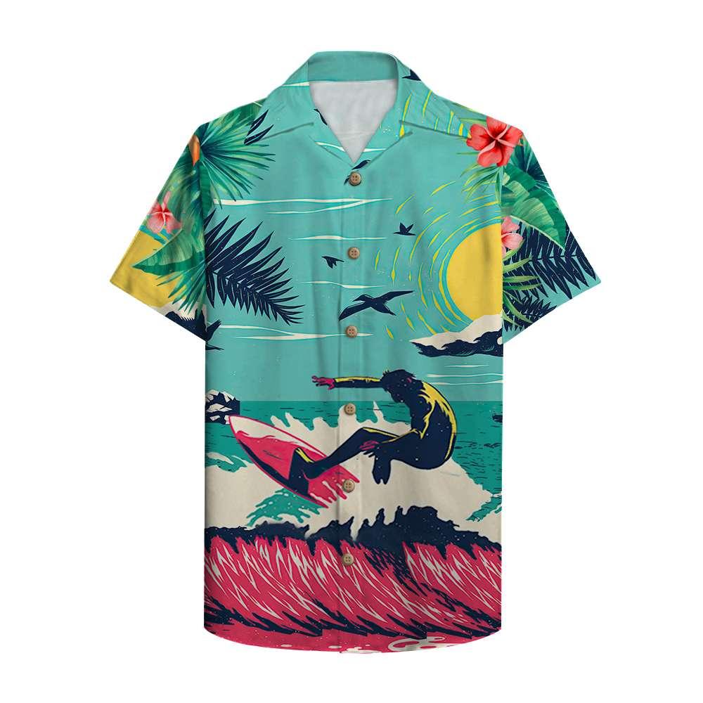 Surfing may the waves be good where you are Hawaiian Shirt Custom